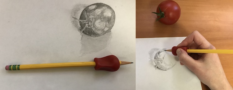 Grip on pencil small